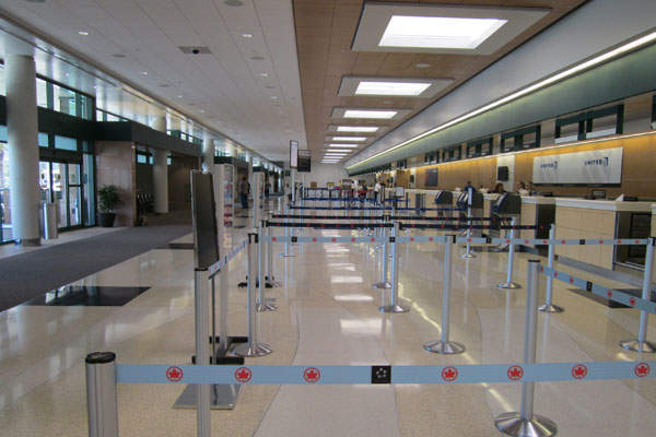 The ticketing area is located inside the terminal building. Image: courtesy of Sarasota Manatee Airport Authority.