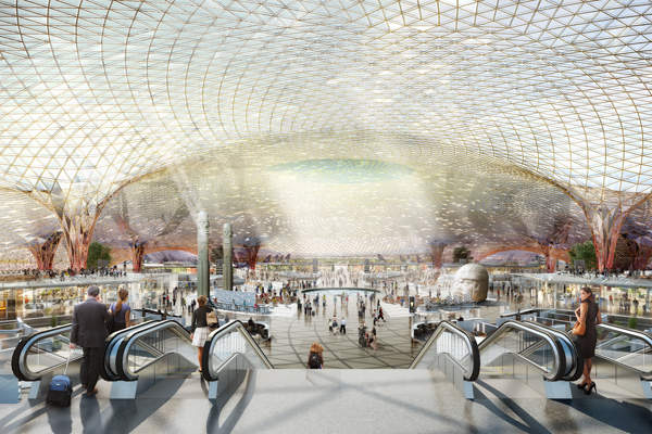 The passenger terminal building will be a single-roof structure. Credit: Foster + Partners.