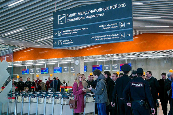 The expanded terminal features 40 passport control booths for international arrival, departure and VIP service. Image: courtesy of Ufa International Airport.