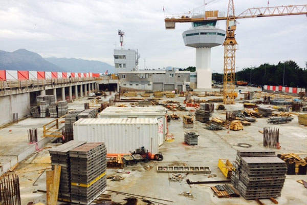 Construction works on the Dubrovnik Airport reconstruction and development commenced in 2015. Image courtesy of Ministry of Maritime Affairs, Transport and Infrastructure, Republic of Croatia.