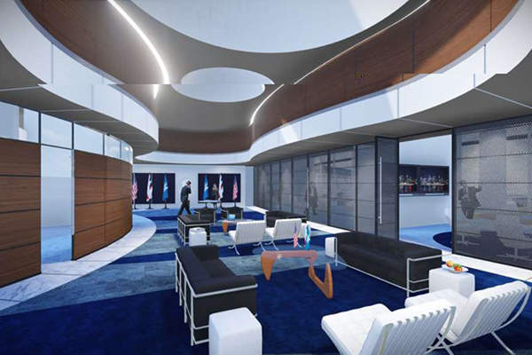 The new terminal will feature a diplomatic suite. Image: courtesy of Houston Airport System.