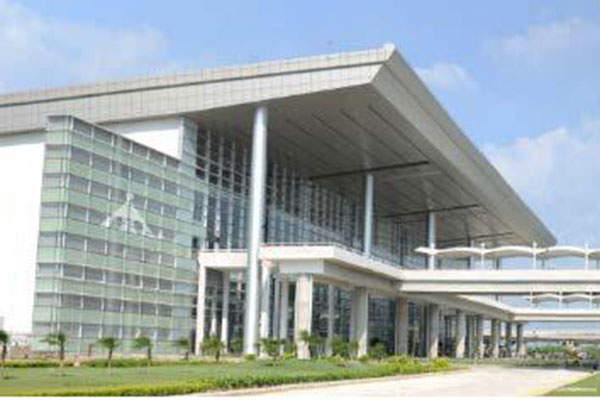 The new terminal will handle both domestic and international services.  Photo courtesy of Airports Authority of India.