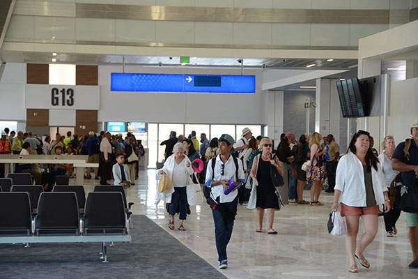 The new Concourse G has been partially opened with two new gates, G12 and G 13.