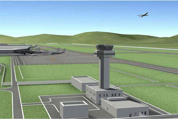 The Air Traffic Control tower of the New Ulaanbaatar International Airport will be 11m higher than the existing Chinggis Khaan airport control tower. Image courtesy of NUBIA.