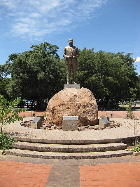 The airport is named after Sir Seretse Khama, who led Botswana to independence in 1966.