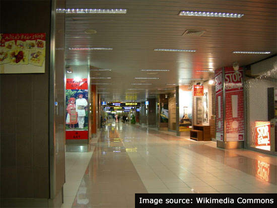 Henri Coandă International Airport has a shopping mall in the departures area.