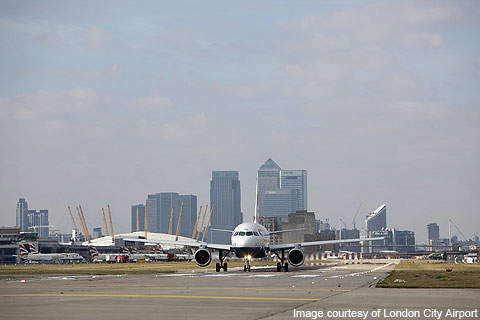 Aircraft flying out of London City serve 31 desinations across the UK and Europe.