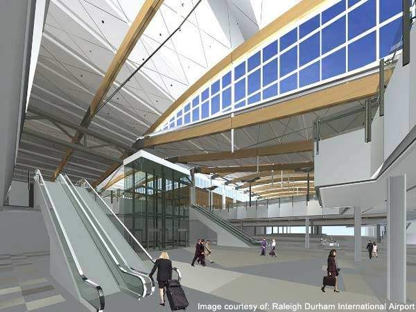 Raleigh-Durham Airport's new baggage claim area.