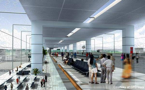 The New Islamabad Airport terminal will be able to handle nine million passengers a year. Credit: Image courtesy of CPG Corp.