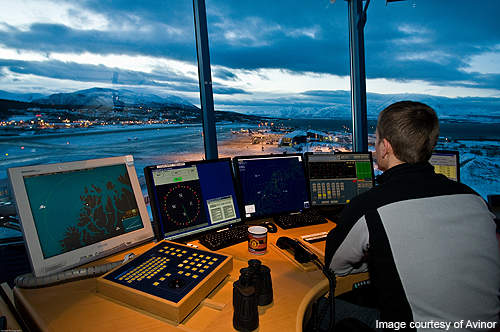 Traffic controllers at the Bergen Airport.