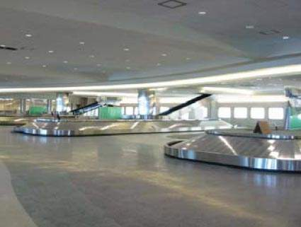 There are now more, larger baggage carousels in Boise Airport's luggage claim area.