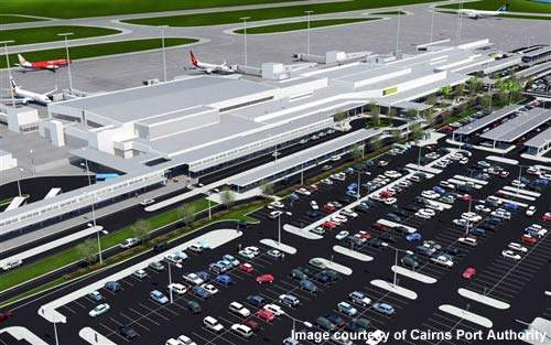 The redeveloped Cairns Airport will play host to the new Boeing 787.