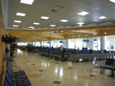 The terminal gates have marble floors and an abundance of comfortable seating for passengers.