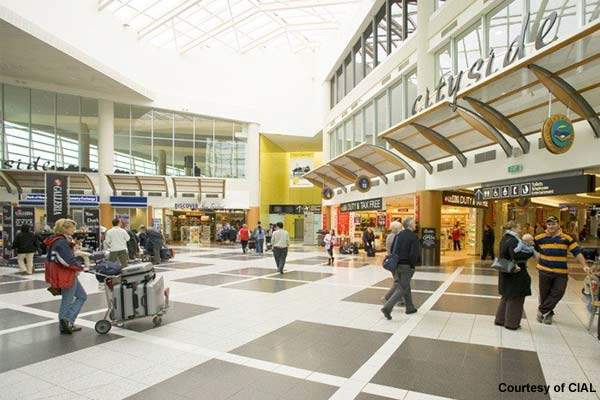 Christchurch Airport's international departures shopping precinct.