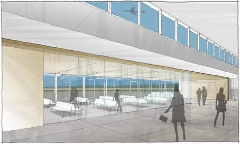 Cranbrook Airport's passenger holding areas.