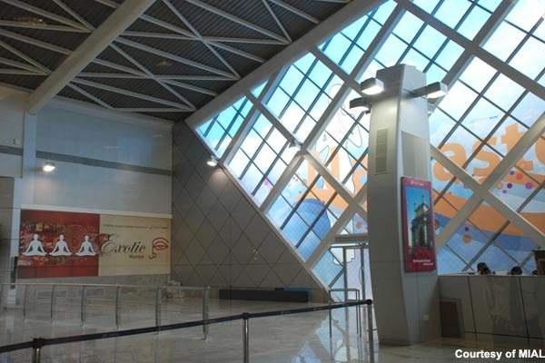 New architecture at the old Chhatrapati Shivaji International Airport terminal 2.