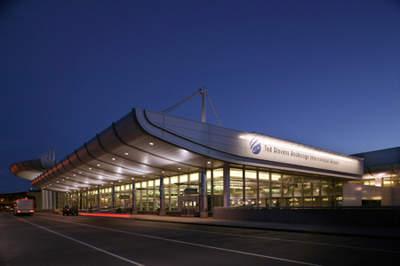 Anchorage Airport departure area.