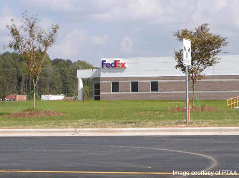 The PTI FedEx hub was opened in 2009.