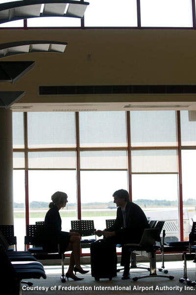 Refurbishment of Fredericton International Airport's terminal building, with a New Brunswick theme, was completed in 2005.