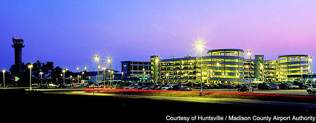 Huntsville International Airport is an important cargo hub in Alabama.