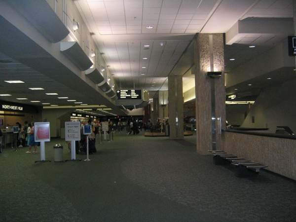 In August 2011, the US Transportation Security Administration installed new imaging technology in the screening area of Tampa International Airport. Image courtesy of Wslupecki.