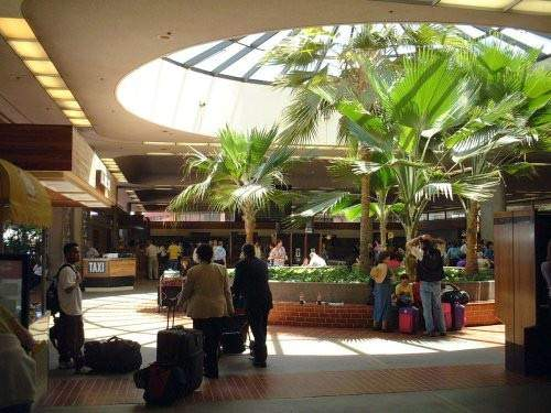The departure lounge of Kahului Airport terminal.