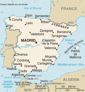 Murcia is in the south of Spain but away from the coast in more hilly regions.
