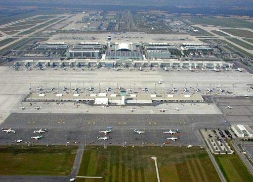 Terminal 2 at Munich International Airport.