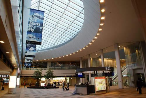 The departure lounge, satellite 5, Terminal 1, Narita International Airport.