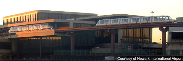 The airtrain at Newark Liberty International Airport, which needs additional rolling stock.