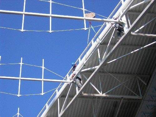 Cables to brace the structure were provided by Macalloy.