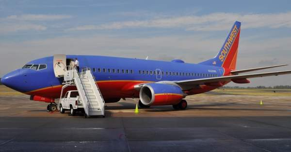 Southwest Airlines started services from the Greenville-Spartanburg airport in 2011. Image courtesy of GSP International Airport.
