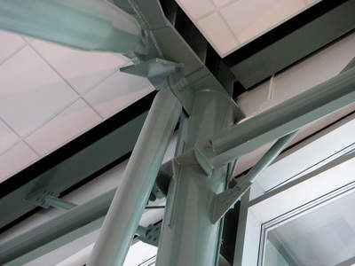 Some of the supports used for the roof in the Edmonton Airport Southeastern Terminal.