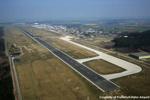 The Frankfurt-Hahn runway has been extended to 3,800m.