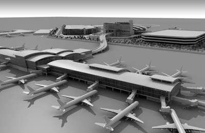 Sacramento's new Terminal B will be three times the size of the current terminal, which serves American, United and other airlines.