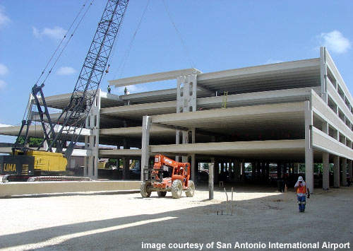The new parking garage at San Antonio Airport.