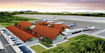 One of the proposed designs for Noi Bai International's terminal two.