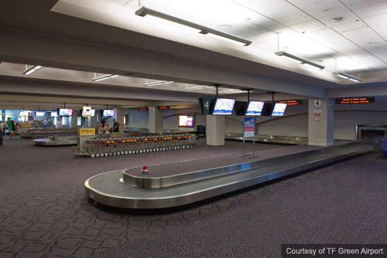 Baggage systems are being improved at TF Green Airport and also more seating in the baggage claim area will be provided.