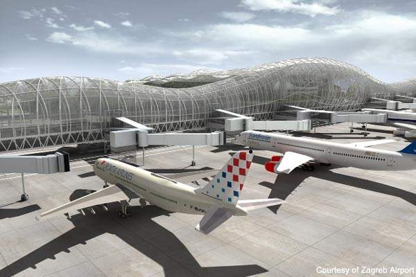 The new terminal will have a nominal capacity of 3.3 million passengers a year.