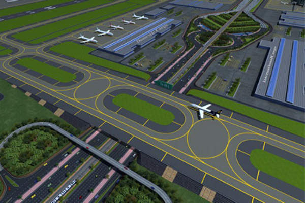 The airport will have two parallel runways for independent operations. Credit: Louis Berger.
