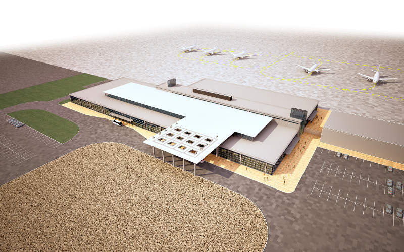 The new terminal will have two floors. Image courtesy of Basic Element.