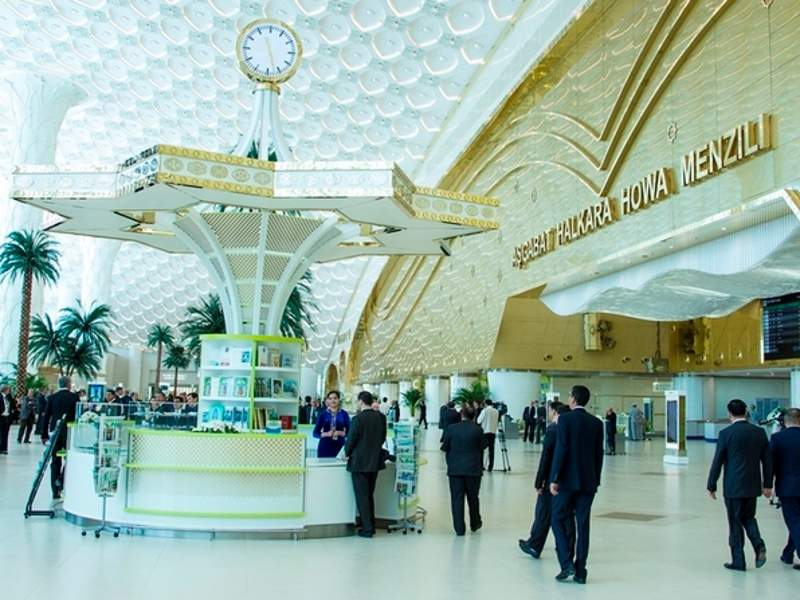 The newly constructed terminal was opened by the President of Turkmenistan, Gurbanguly Berdimuhamedov, in September 2016. Image courtesy of Ashgabat.