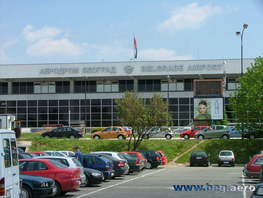The airport has over 637 outdoor parking spaces. Image courtesy of www.beg.aero