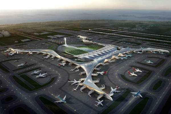 The new terminal will feature 56 passenger aprons and 21 cargo aprons when completed. Courtesy of © copyright ADPI.