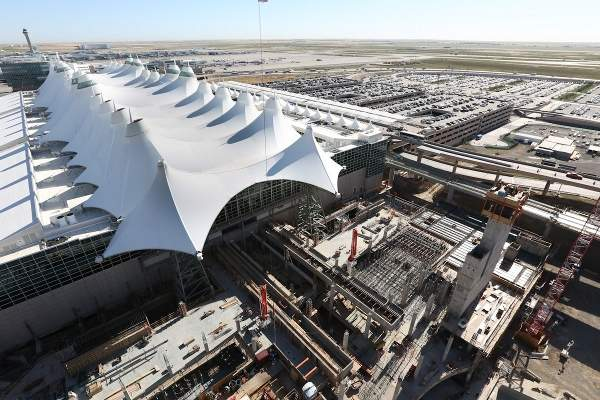 Kiewit was contracted for construction enabling services for the terminal redevelopment project. Image courtesy of Denver International Airport.