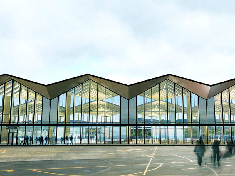 The new terminal's design is modular and flexible. Image courtesy of Nelson Airport Ltd.