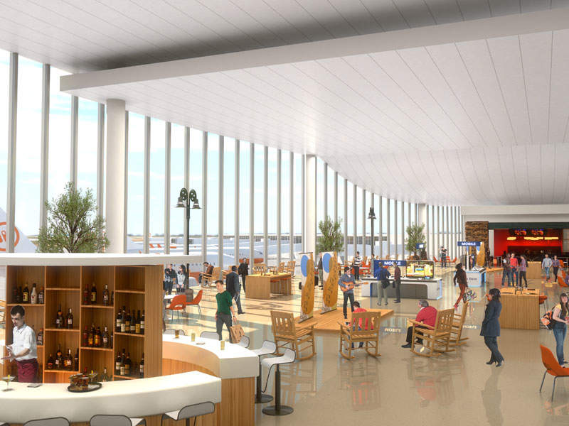 Construction of a new central entrance hall has already begun as a part of the project. Image: courtesy of Metropolitan Nashville Airport Authority.