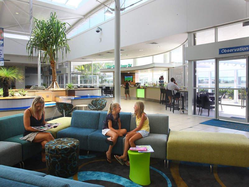 Departure lounges at Sunshine Coast International Airport. Image courtesy of Sunshine Coast Regional Council.