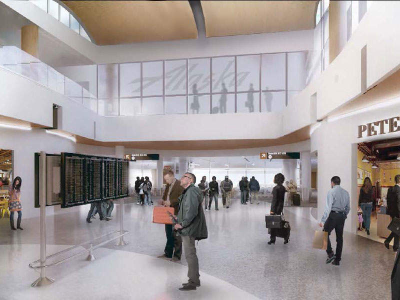 The retail and dining area in the North Satellite terminal will be doubled. Image courtesy of Port of Seattle.