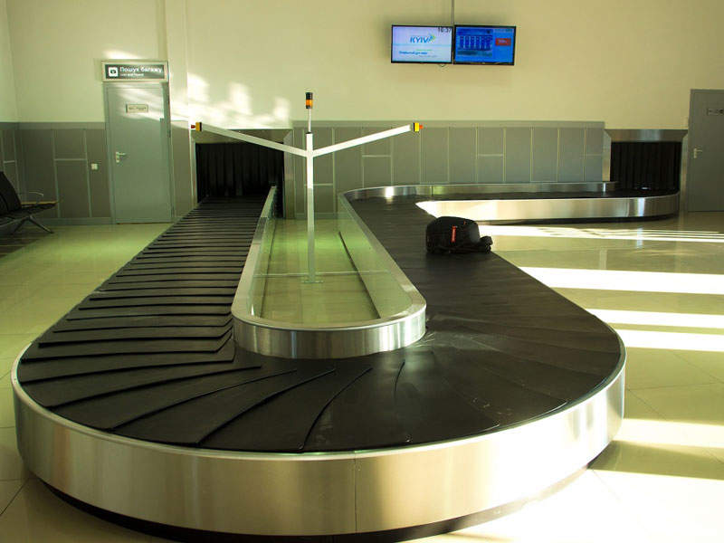 Baggage reclaim area in the international terminal. Image: courtesy of Kyiv International Airport.